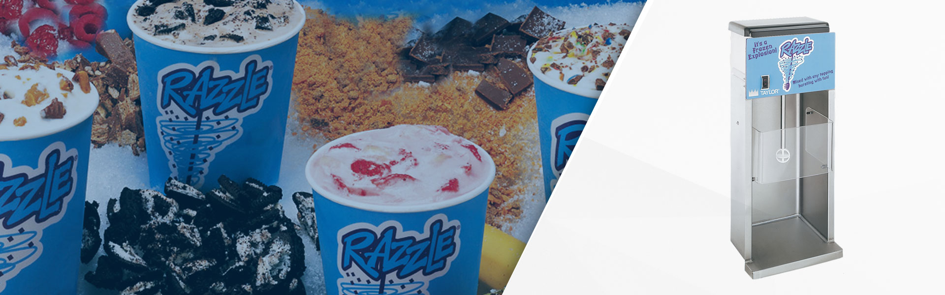 BEAT THE HEAT WITH RAZZLE®: SOFT SERVE, ICE CREAM OR FROZEN YOGURT AND YOUR CUSTOMER'S CHOICE OF MIX-INS